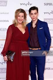Alexa Maria Surholt and her son Artur Surholt attend the Goldene ...
