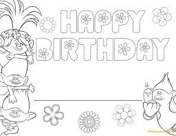 Free printable trolls coloring pages. Free Trolls Happy Birthday Coloring Pages Cartoons Coloring Pages Free Printable Coloring Pages Online