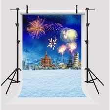 New Year Backdrops Greendecor Polyster 5x7ft Happy New Year Backdrops For Photography