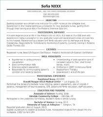 Nurse Resume Adorable Registered Nurse Resume Examples Fresh Registered Nurse Resume