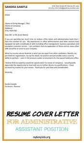 Resume builder resume templates resume examples. 10 Resume Cover Letter For Administrative Assistant Position Free Templates