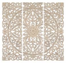 lotus wall panel set home wall decor wall art set of 3 carved wood inspiration of on carved medallion wall art panels set of 4 with lotus wall panel set home wall decor wall art set of 3 carved wood