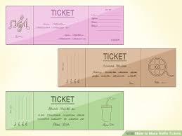 Raffles Tickets 3 Ways To Make Raffle Tickets Wikihow