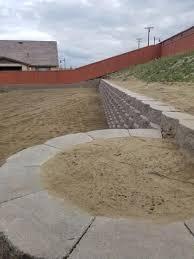 pecan concrete retaining wall block