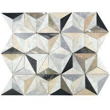 waterjet mosaic tile fleur snow water jet cut glass soho studio corp mosaics mj geotech nero
