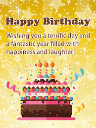 A Terrific Day Happy Birthday Card Birthday Greeting Cards By
