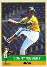 1976 Sonny Siebert in 2020 | Oakland athletics baseball, Baseball trading  cards, Baseball cards