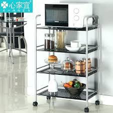 kitchen racks metal grey microwave stand with rack and shelf storage shelves ikea