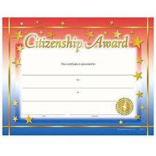 Citizenship Award Gold Foil Stamped Certificates