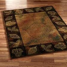 rustic area rugs 8x10 leaf border leaves transitional rustic cabin lodge area rug or 1 of rustic area rugs