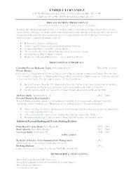 Banking Resume Samples Banker Resume Samples Sample Professional Resume
