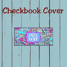 personalized checkbook covers cover lilly inspired design leather for duplicate checks