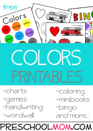 Print coloring pages online or download for free. Color Preschool Printables Preschool Mom
