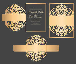 5x7 border template svg dxf eps belly band wedding invitation laser cut template