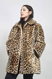 vintage 60 s oversized leopard print faux fur coat