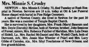 Minnie Crosby - Newspapers.com