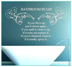 bathroom rules wall decor art for walls sayings canada bathroom rules wall decor art for walls sayings canada