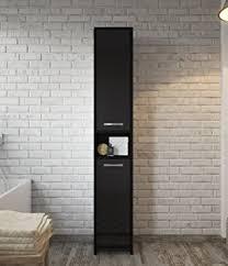 tall black storage cabinet. Badplaats Freestanding Bathroom Cabinet Tall Storage Cupboard 168cm High Gloss Black Bath Furniture A