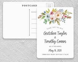 Wedding Postcard Etsy