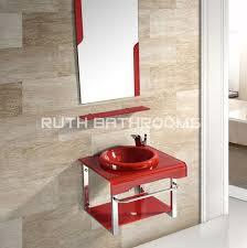 glass basin cabinet manufacturer tempered glass basin factory glass vessel bowl glass wash sink gb5201