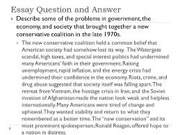 resurgence of conservatism the new conservatism conservatism and  14 essay