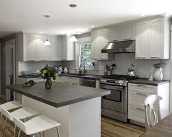 White Kitchen Cabinets with Grey Countertops price