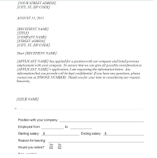 Employment Verification Form Template Free Formats Excel Word