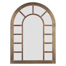 cathedral arched wall mirror 24w x 34 25h in bronze