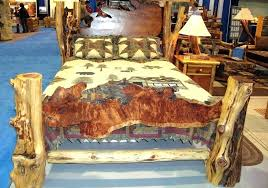 O Elegant Cedar Log Bed Frame Rustic The Best Wood Furniture How To Build A  Be Home