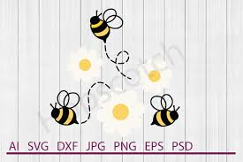 Bee Design Bahrain Bee Svg Bee Dxf Cuttable File By Hopscotch Designs
