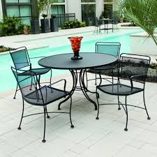 outdoor dining sets outdoor furniture clearance modern black round iron dining table
