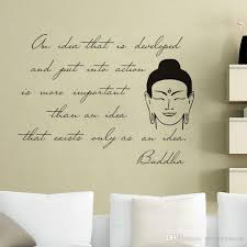 Statue Quotes Gorgeous Buddha Statue Wall Stickers Quotes Vinyl Art Decals Removable Home