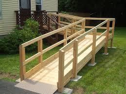 Handicap Ramps Wood Designs Wood Handicap Ramps For Homes Mycoffeepot Org