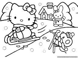 Small Picture Hello Kitty Christmas Coloring Pages snowman coloring pages