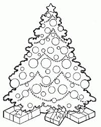Free Coloring Pages Christmas Tree Coloring Pages Draw