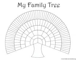 blank family tree with pins printable templates template generations word resume