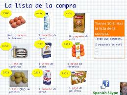 Lista De Compras Supermercado Spanish Skype Lessons En El Supermercado La Lista De La Compraen
