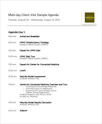 sample agenda 5 visit agenda examples samples