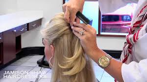 Half Ponytail Hairstyles How To Create A Bang Bump And Half Ponytail Hairstyle Tutorial
