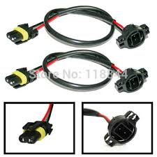 2pcs 5202 h16 2504 psx24w power cord wire harness for hid ballast 2pcs 5202 h16 2504 psx24w power cord wire harness for hid ballast to stock socket for