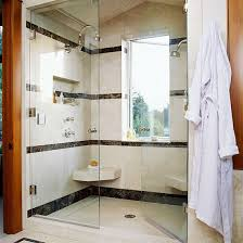 Large Walk-In Shower with Seating for Two