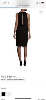 Rag Bone Black Eliza Open Short Cocktail Dress Size 2 Xs 77 Off Retail