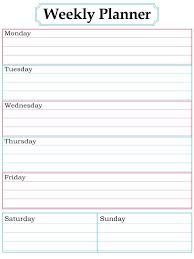 Weekly Timetable Planner Printable Weekly Timetable Planner Download Them Or Print
