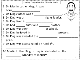 Mlk Worksheet Free Worksheets Library | Download and Print ...