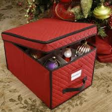 Christmas Decorations Storage Box Ornament Storage Box With Dividers For Large Decorations 2