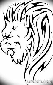черно белый эскиз тату рисунок лев 11032019 017 Tattoo Sketch