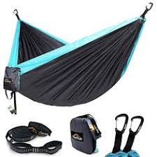 <b>Camping Hammock Single Double</b> Parachute Nylon Hammocks ...