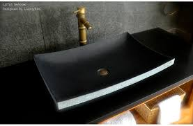 24 black granite natural stone vessel sink lotus shadow stone vessel sinks exterior house design