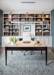 bookshelves for office. Milwaukee Built In Bookshelves With Desk Silver Task Chairs Home Office Transitional And Floating Modern Farmhouse For