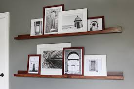 Floating Shelves For Picture Frames Adorable How To Build Pottery Barn Style Photo Shelves Bower Power